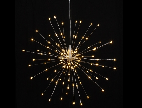 Hanging Star Fairy Lights, Battery Operated, Timer Function, 30cm