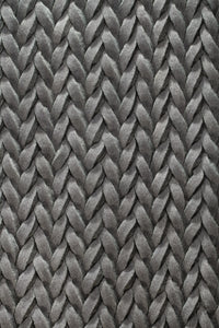 Modern grey plaited rug