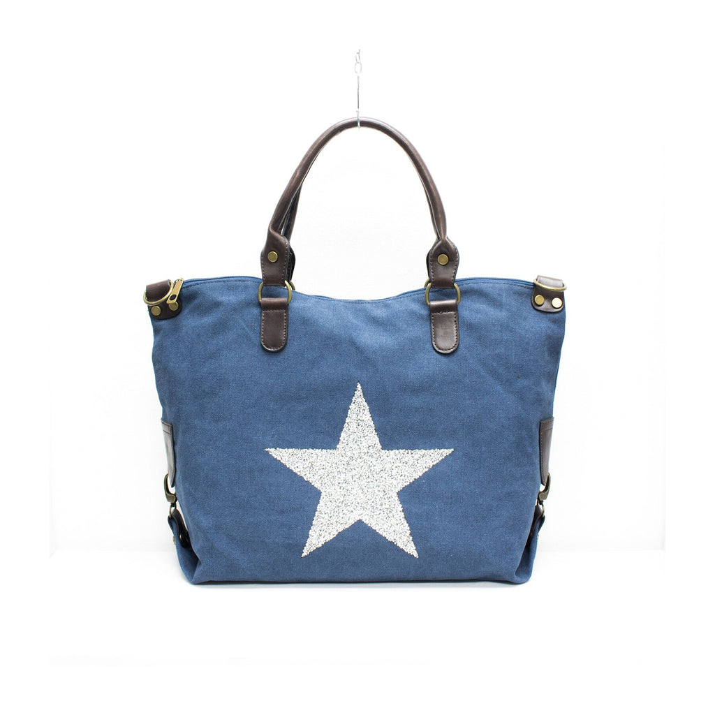 Star Canvas Tote/Weekend Bag