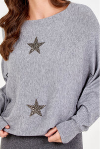 Crystal Star Jumper - Grey