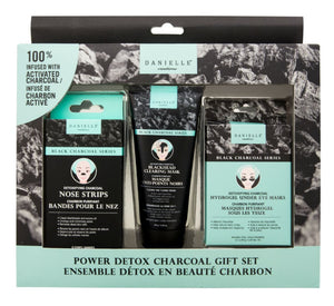 Gift box with 3 charcoal face skincare products