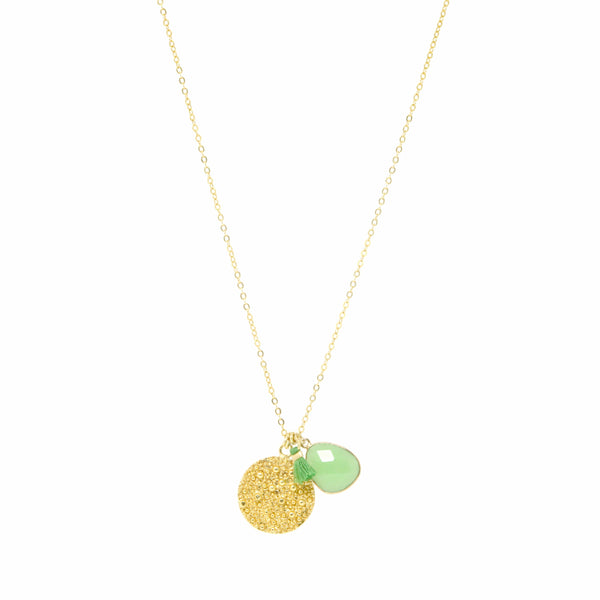22 Carat Gold Plated Coin Necklace