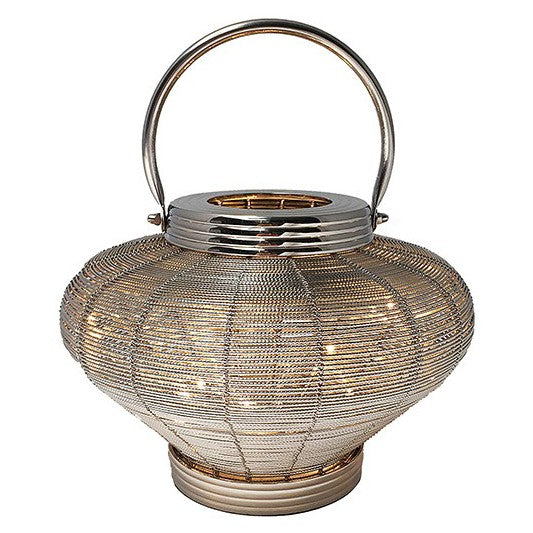 Wire Mesh Loom Lamp With LED Lights - Plug In