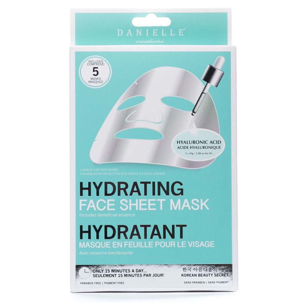 Hyaluronic Hydrating Face Mask - 5 In Pack
