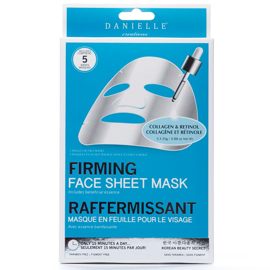 Firming Collagen and Retinol Face Mask - 5 In Pack
