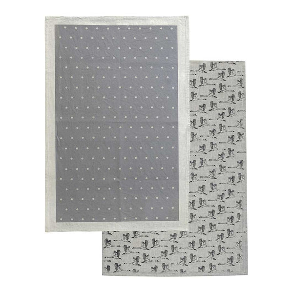 In Flight Tea Towel 2 Pack - Grey