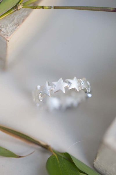 Star Ring in Antique Silver