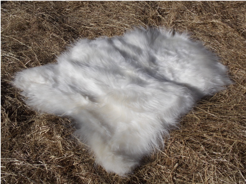 Icelandic Long Hair Natural Sheepskin Rug