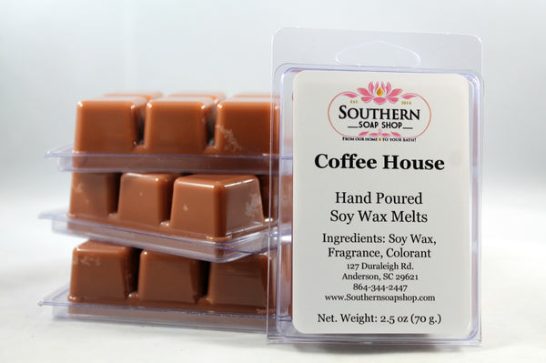 Soy Wax Melt for your plug- in melting pots the rich aroma of a steaming hot cup of freshly brewed Colombian coffee is sure to awaken all of your 5 senses! Hand poured in Anderson South Carolina