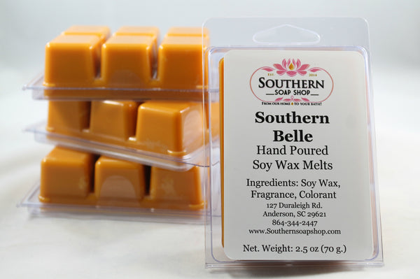 Are you carving a taste of the South? This Hand poured soy wax melt made in Anderson South Carolina is inspired by afternoons of front porch sitting and sipping on some good old sweet tea with the smell of honeysuckle in the breeze.