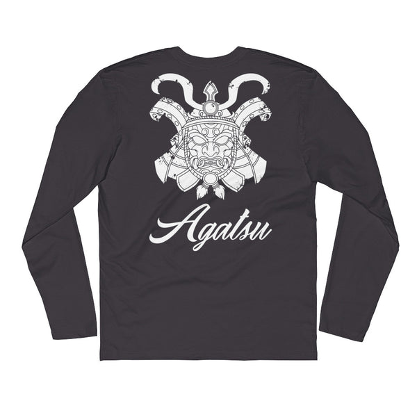 Agatsu Jiujitsu Samurai Spirit Long Sleeve Fitted Crew
