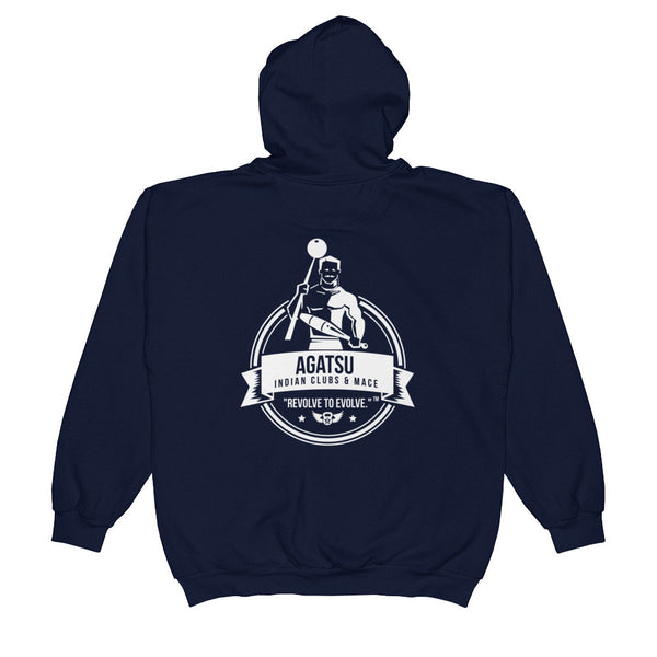 Agatsu Indian Club & Mace Unisex  Zip Hoodie