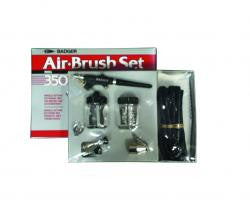 BADGER SINGLE-ACTION EXTERNAL-MIX BOTTOM-FEED AIR BRUSH SET - BA350-4