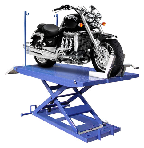 M-1500C-HR 1,500lb High Rise Motorcycle Lift w/ Vise, Side Extensions