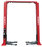 TLT240SC-R Launch 9,000lb Two Post Clear Floor Asymmetric Lift - Red