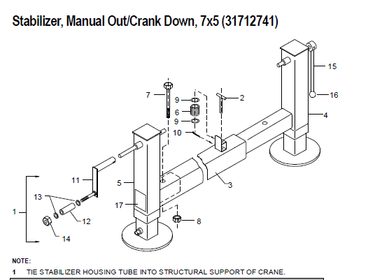 IMT ARM-STAB ADJ. MAN OUT/CRANK DOWN - 52712737
