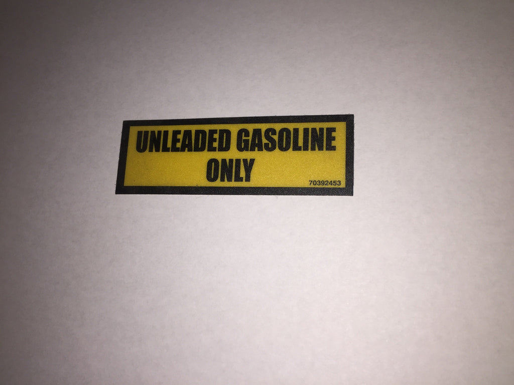 IMT 70392453 - Decal Unleaded Gasoline Only