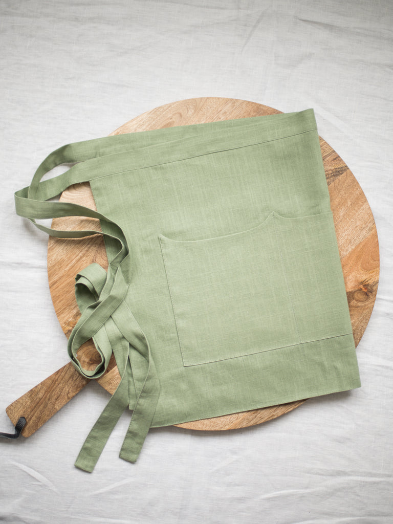 Sage Linen Apron - Limited Edition
