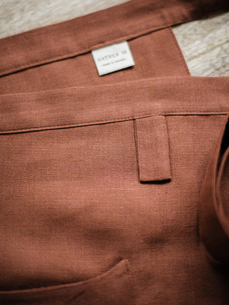 Clay Linen Apron - Limited Edition