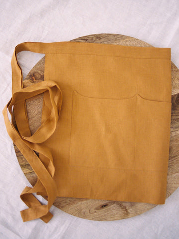 Gold Linen Apron - Limited Edition