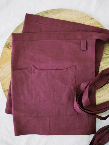 Berry Linen Apron - Limited Edition