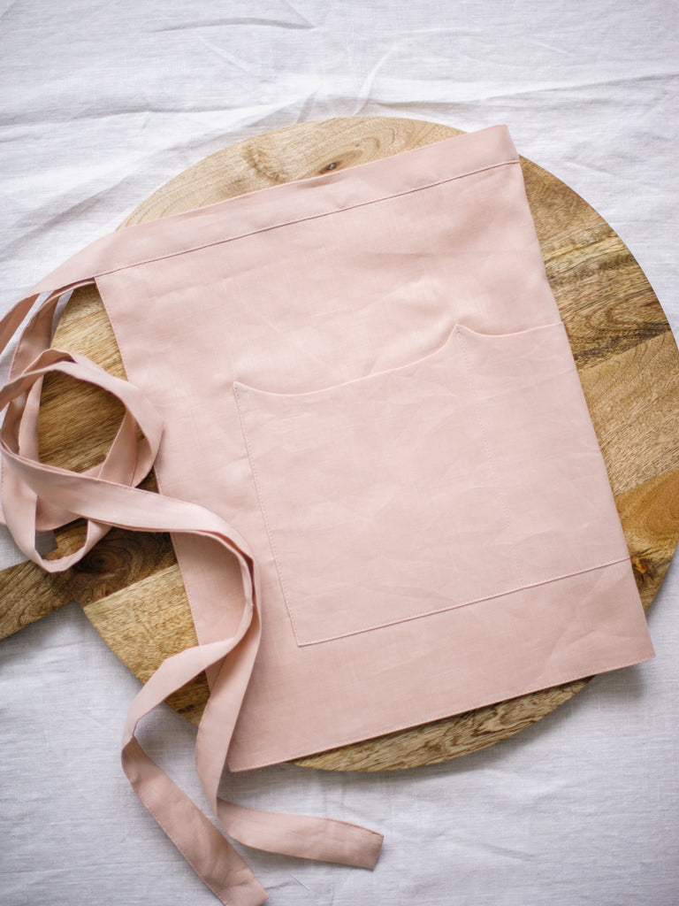 Peony Linen Apron - Limited Edition