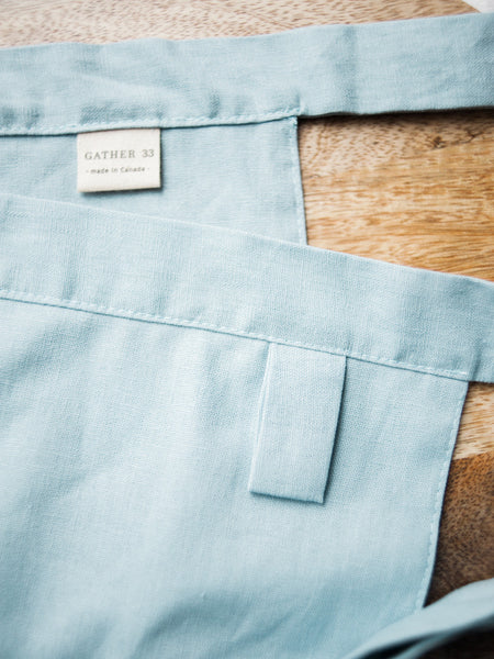 Sky Linen Apron - Limited Edition