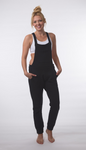 Sweateralls - French Terry Overalls Black