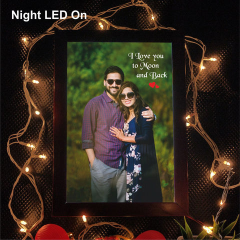 I Love You To Moon and Back Personalized LED Photo Frame - fabwoods