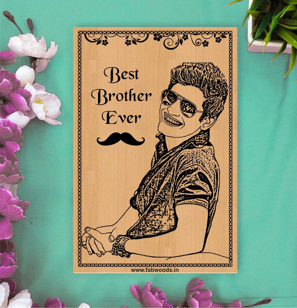 World's Best Brother Personalized Wooden Poster