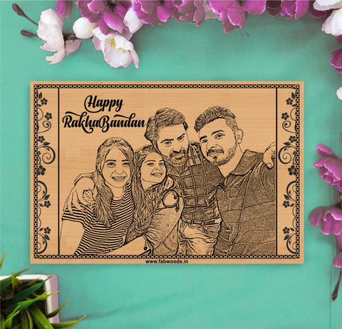Happy RakhaBandan Personalized Wooden Poster
