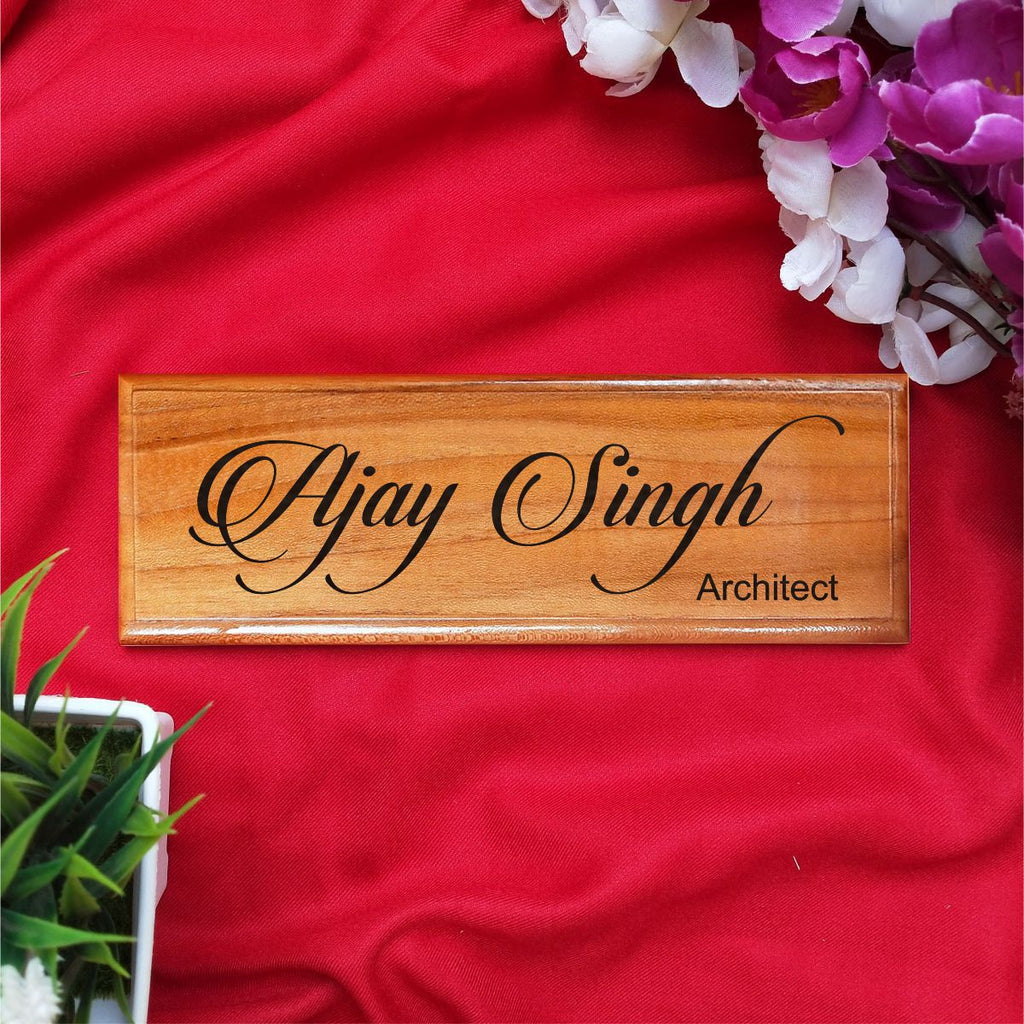 Customize Your Own Wooden Nameplate - fabwoods