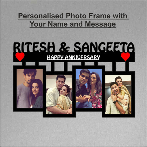 4 Picture Personalized Photo Frame Collage - fabwoods