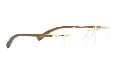RW1601 Walnut Rimless Wooden Eyewear - fabwoods