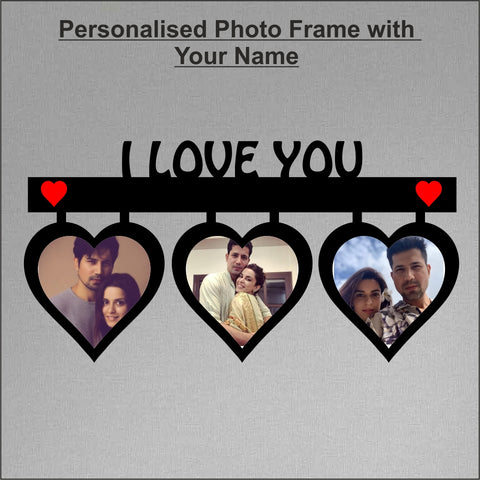 I Love You Personalized Photo Frame 3 picture - fabwoods
