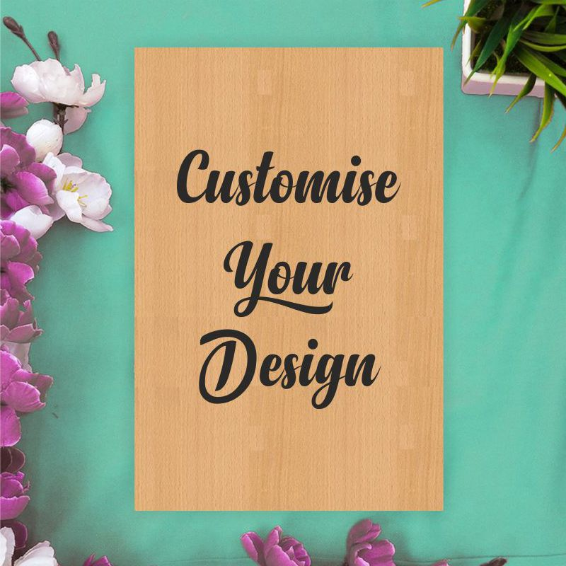 Personalised Rectangular Wooden Poster - fabwoods