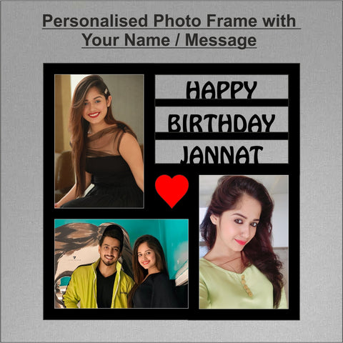 Happy Birthday Personalized Photo Frame - fabwoods