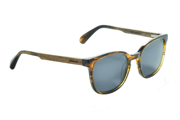 AS1603 C2 Walnut Wooden Sunglass - fabwoods