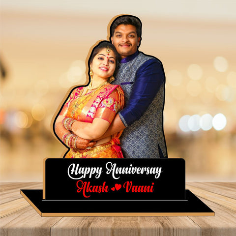 Happy Anniversary Wood CutOut Photo Frame 2