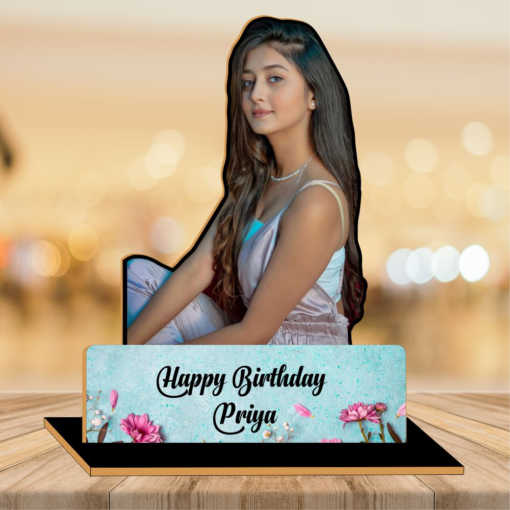 Happy Birthday  Wood CutOut Photo Frame 2