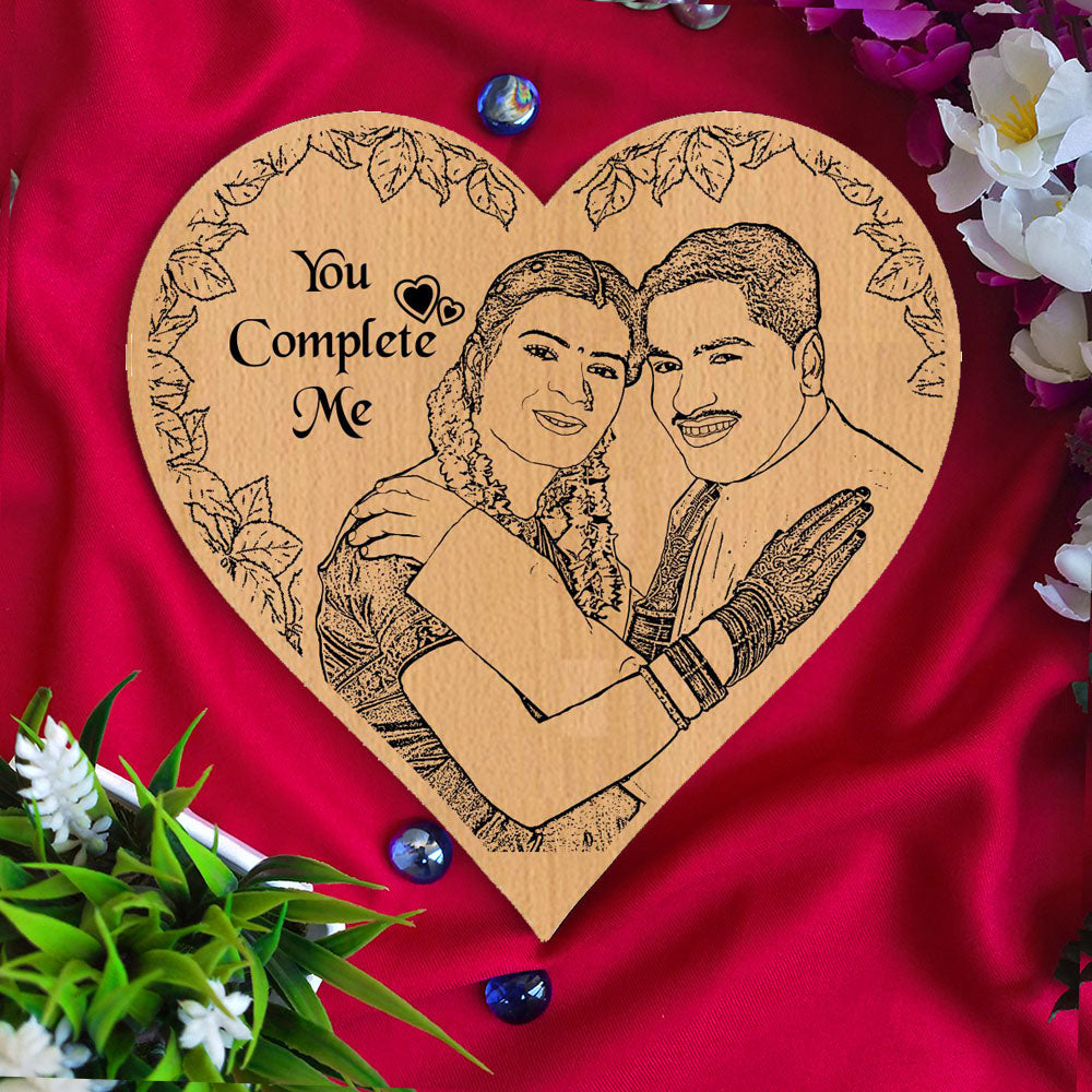 You Complete Me Personalised Wooden Frame - fabwoods