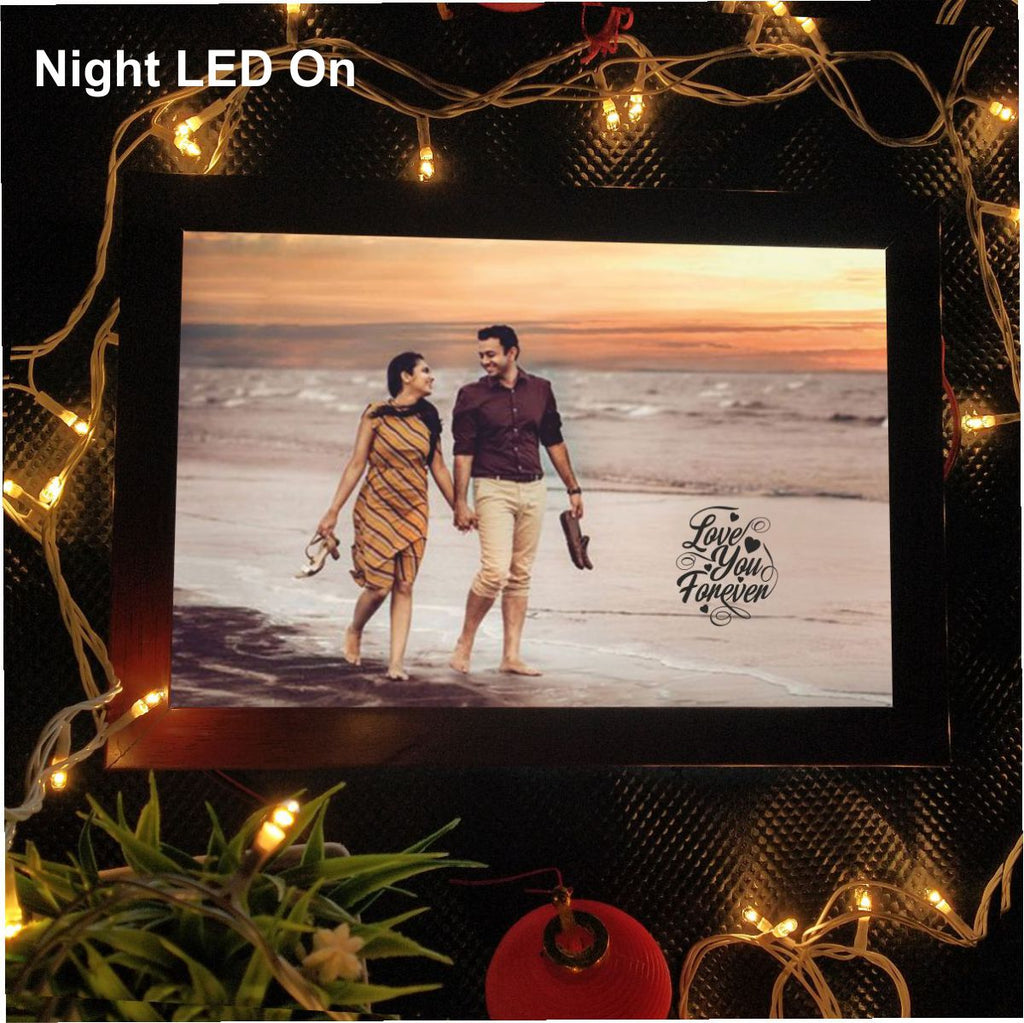 Happy Anniversary Personalized LED Photo Frame - fabwoods