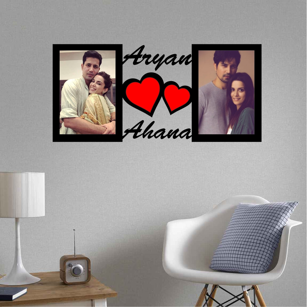 Couple Name Personalized Photo Frame - fabwoods