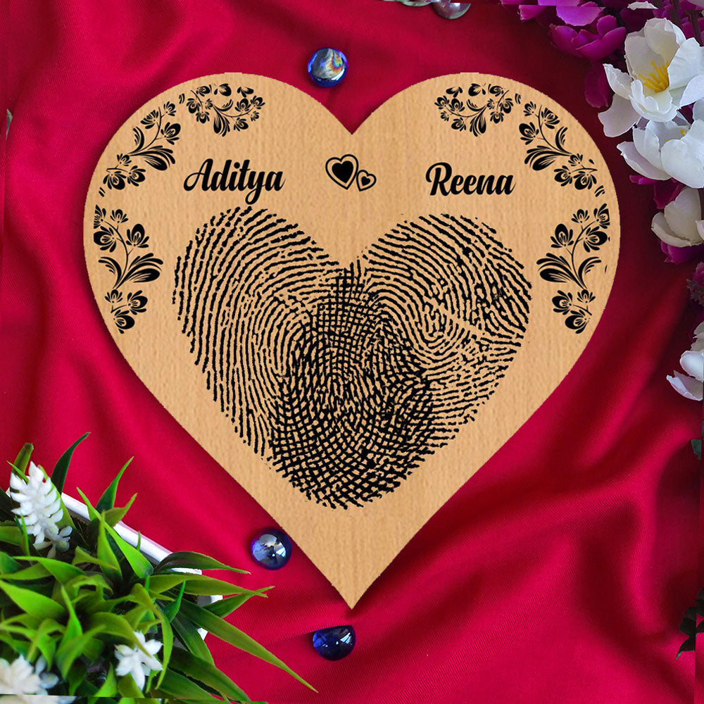 Fingerprint Personalised Wooden Poster - fabwoods