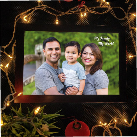 My Family My World Personalized LED Photo Frame - fabwoods