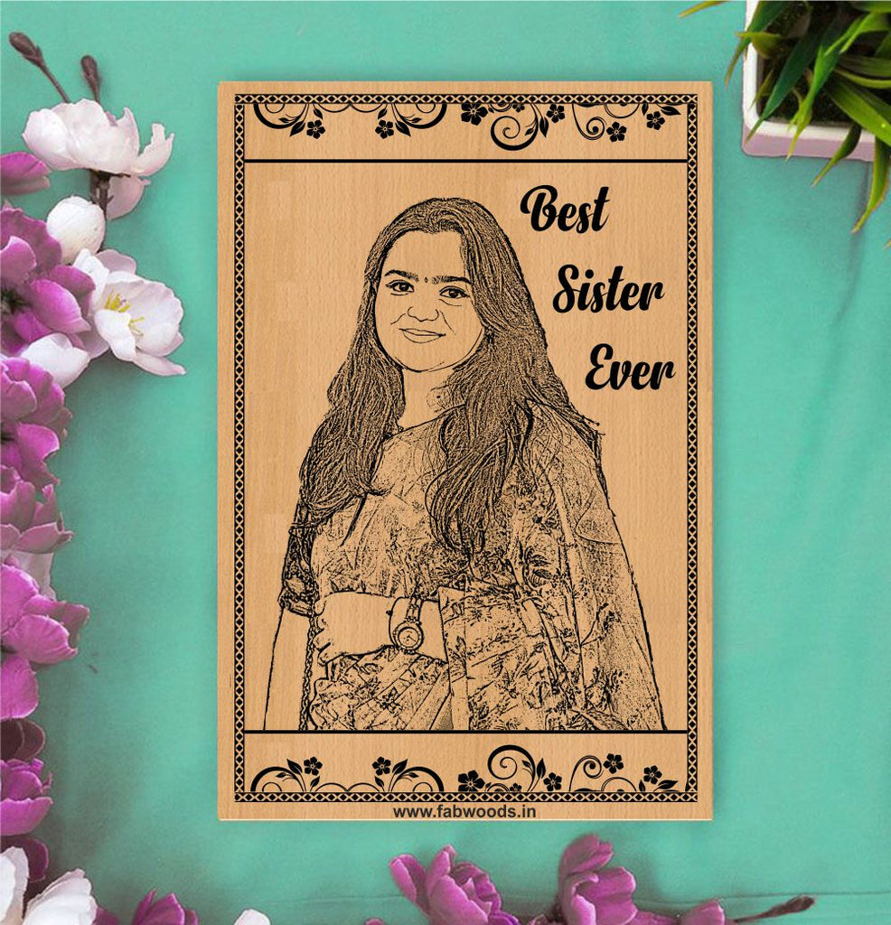 World's Best Sister Personalised Wooden Poster