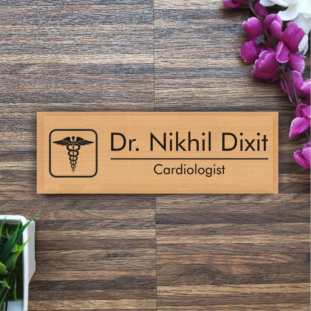Personalized Wooden Nameplate For Doctors - fabwoods