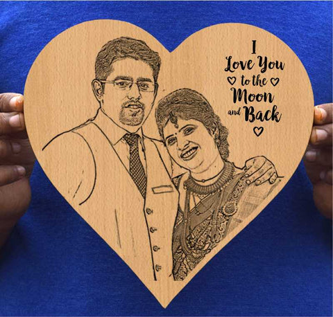 I Love you to moon & back Personalised Wooden Frame - fabwoods