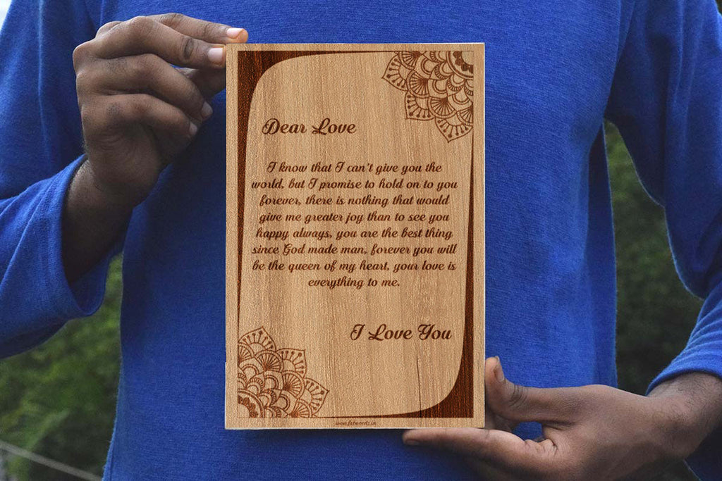 Letter Personalised  Wooden Frame - fabwoods
