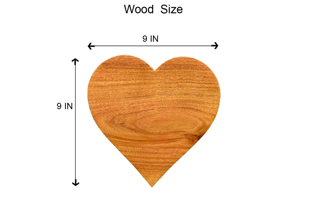 Personalised Heart Shaped Wooden Poster - fabwoods